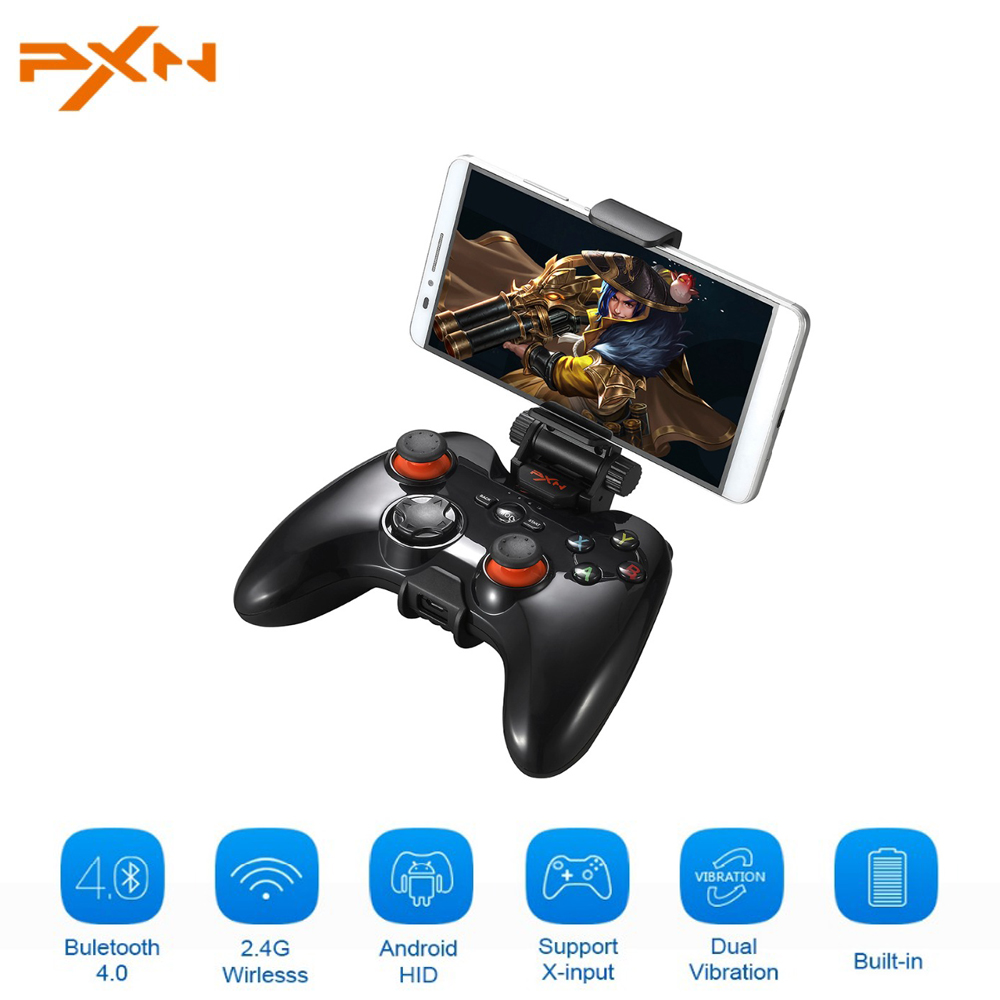 PXN 9613 Wireless Game Controller 2.4G Bluetooth Gamepad Portable Handle Bracket for PC Tablet Android Smartphone TV Box