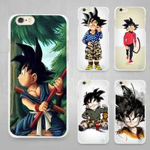 seven dragon ball z kid goku Hard White Cell Phone Case Cover for Apple iPhone 4 4s 5 5C SE 5s 6 6s 7 8 Plus X(China)