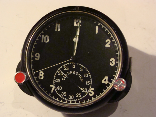 Aviation Instrument Russian Aviation Aircraft Cockpit Clock Bell 122YC