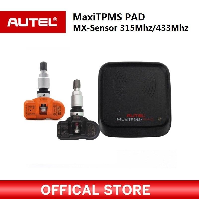 Autel MaxiTPMS PAD programmeur programmation de Pression des Pneus TPMS Capteur MX-Capteur 433 315 mhz Mx Capteur autel TPMS outil pour ms906ts