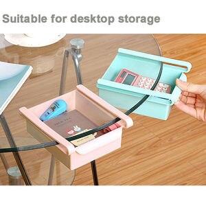 Image 3 - Novo quadrado geladeira caixa de armazenamento fresco espaçador camada rack de armazenamento gaveta espécie acessórios da cozinha pendurado organizador