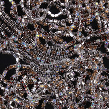 ZOTOONE SS10 1Yard AB Rhinestones for Clothing Stones Mix Coffee Crystals Cup Chain Rhinestone Trim Sew on Ornament Accessories