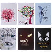 For Apple IPad Air 1 Case Flower Tree Feather Print Flip Pu Leather Tablet Stand Case