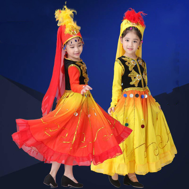 4f2294a42332 Children s Uighur ethnic dance clothes performance clothing Xinjiang ...