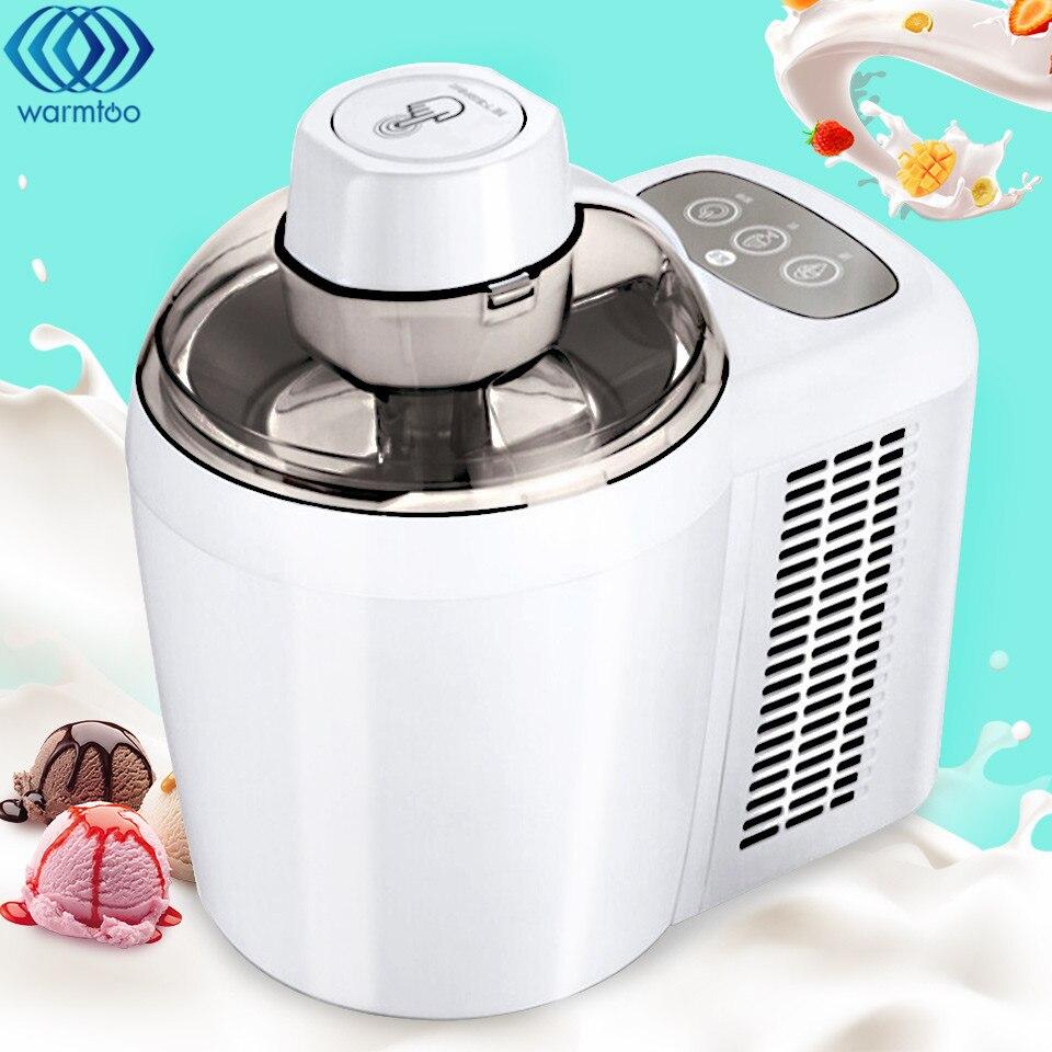 220 v Entièrement Automatique Mini Ice Cream Maker Machine 600 ml BRICOLAGE Maison Avec Auto Réfrigération Yaourt Aux Fruits Dessert Glace crème Maker