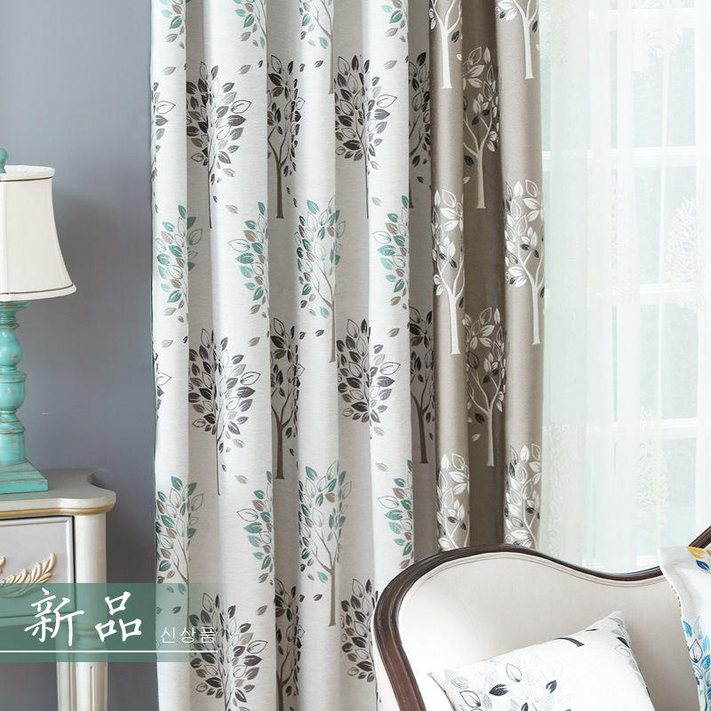 Modern double jacquard chenille curtain stretches product for M s living room curtains