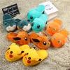 Women Anime Cartoon Pokemon Slippers Lovers Warm Woman Slippers Elf Ball Pikachu Go Plush Shoes Home House Slippers Children