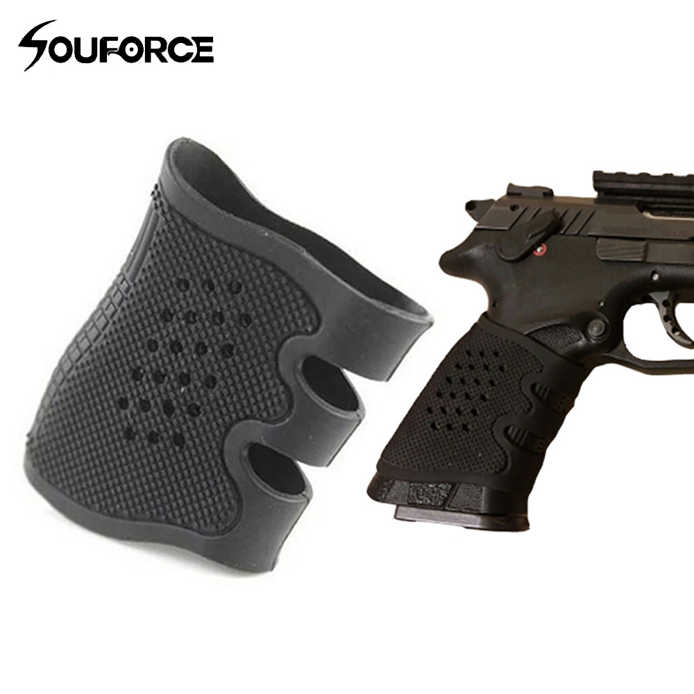 Sports & Entertainment 2 Color Rubber Pistol Anti Slip Grip Cover For Glock Series Usp T12 Cz75 And Most Handguns Of Hunting Gun Accessory Hunting