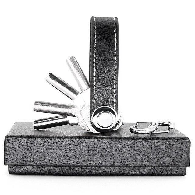 DIY чехол для смарт-ключа EDC gear креативная ключница подарок Автомобильный ключ органайзер портативный компактный Мультифункциональный ключ ...
