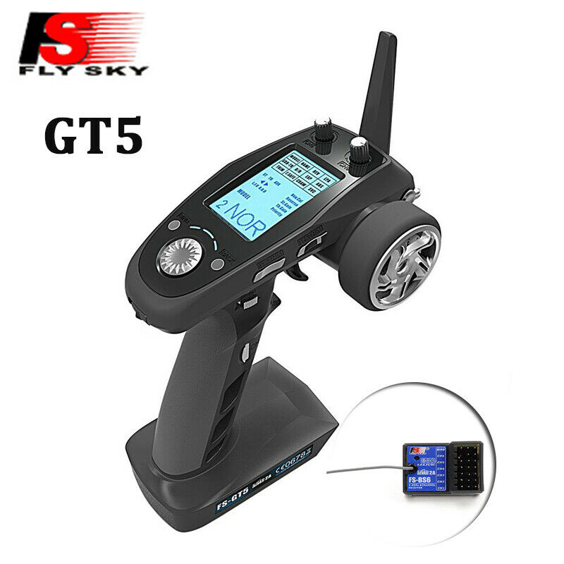 Flysky FS GT5 2 4G 6CH Transmitter with FS BS6 Receiver Built in Gyro Fail Safe