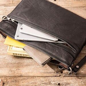 Image 5 - Bolso de mano AETOO para hombre, sobre, de piel, nuevo, suave, de gran capacidad, bolso de mano, bandolera