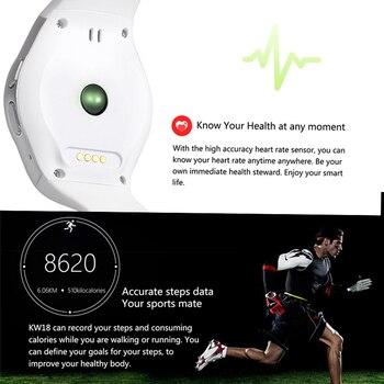 חכם שעון גברים KW18 Bluetooth חכם שעונים קצב לב מד צעדים ה-SIM Smartwatch שיחת תשובה TF טלפון שעון עבור אנדרואיד IOS