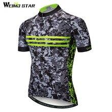 Weimostar бренд камуфляж Велоспорт Джерси рубашка Дорога MTB велосипед Джерси Мужская полиэстеровый велосипедный одежда лето скоростной спуск одежда