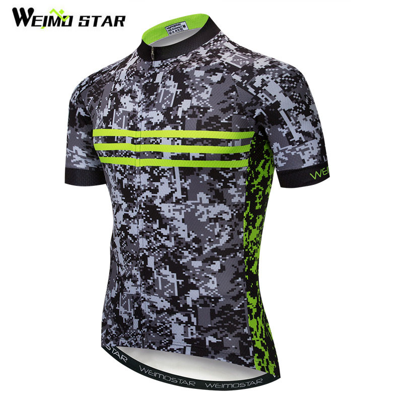 Weimostar Brand Camouflage Cycling Jersey Shirt Road MTB Bike Jersey Men  Polyester Bicycle Wear Summer Downhill Cycling Clothing e3c00f818
