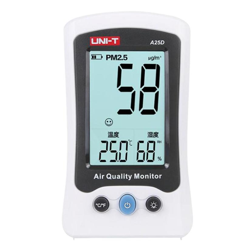 UNI-T A25D Air Quality Monitor HCHO PM2.5 Gas Analyzer Formaldehyde Detector Tester Temperature Humidity Meter uni t ut330c 3 in1 ip67 portable usb temperature humidity air pressure tester