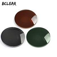 BCLEAR 1,61 для мужчин и женщин Близорукость дальнозоркость поляризованные солнцезащитные очки линзы коричневый серый зеленый солнцезащитные