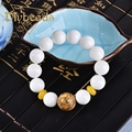 Fashion Natural White Tridacna Canal Beads Bracelet  Lap Bracelets Jewelry Charm Gifts Diybeads