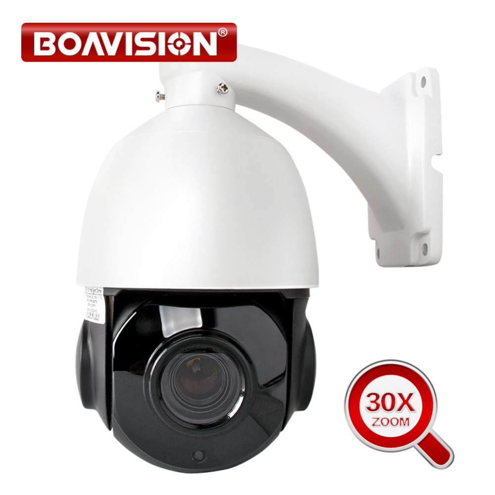 1080P 2MP PTZ IP Camera 30X ZOOM Waterproof Mini Speed Dome Camera Outdoor H.264 IR 50M CCTV Surveillance Security Cameras Onvif