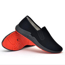 Old Beijing cloth shoes tide spring and summer breathable soft bottom mens one pedal work foreign trade casual shoe
