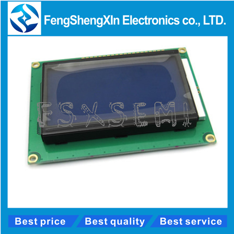 LCD12864 128*64 DOTS LCD module 5V blue screen 12864 LCD with backlight ST7920 Parallel port  LCD12864 128*64 DOTS LCD module 5V blue screen 12864 LCD with backlight ST7920 Parallel port