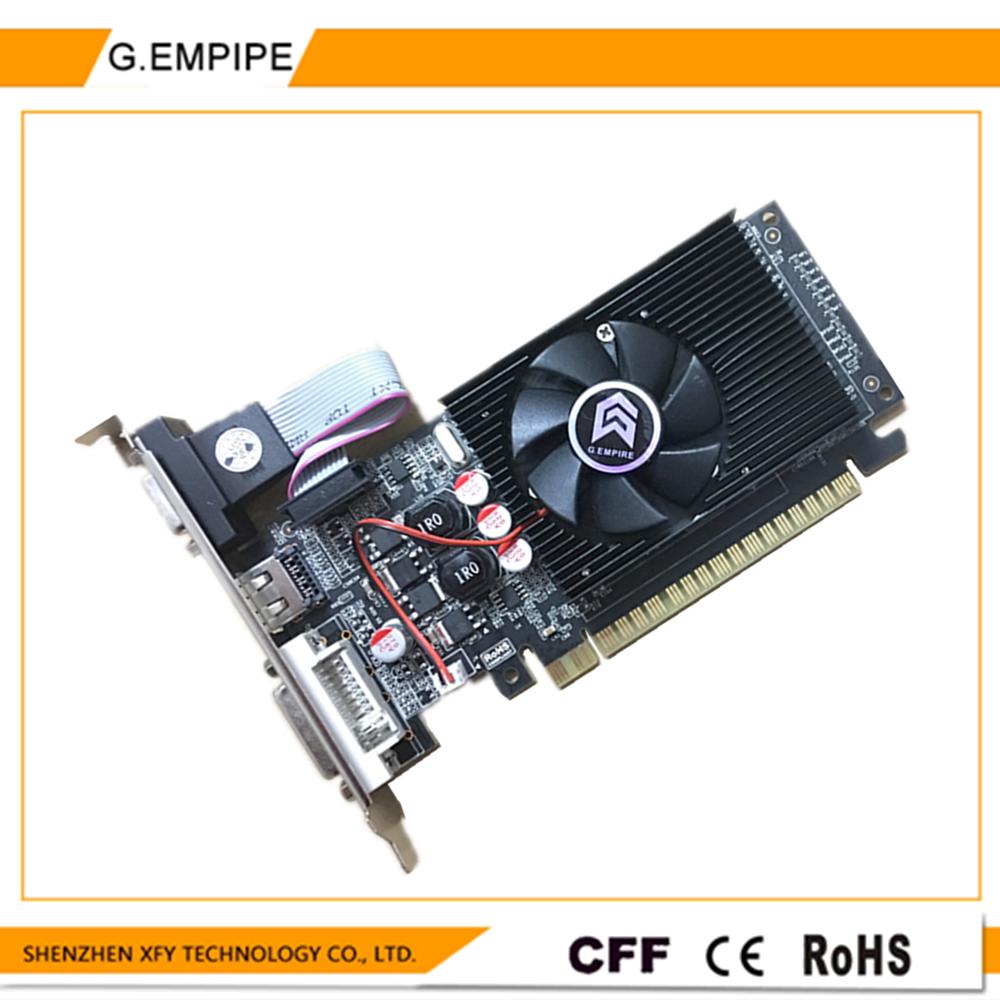 Prix pour VGA placa de vidéo pci express carte graphique PC pour saphir GT210 DDR3 1 GB 64bit pour Nvidia GeForce graphique livraison gratuite