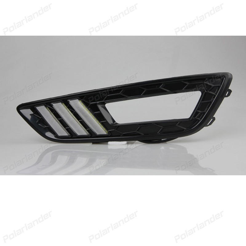 Daytime running lights Car styling for F/ord New F/ocus 2015 auto parts 2 pcs auto accessory drl for f ord k uga or e scape 2013 2015 car styling daytime running lights