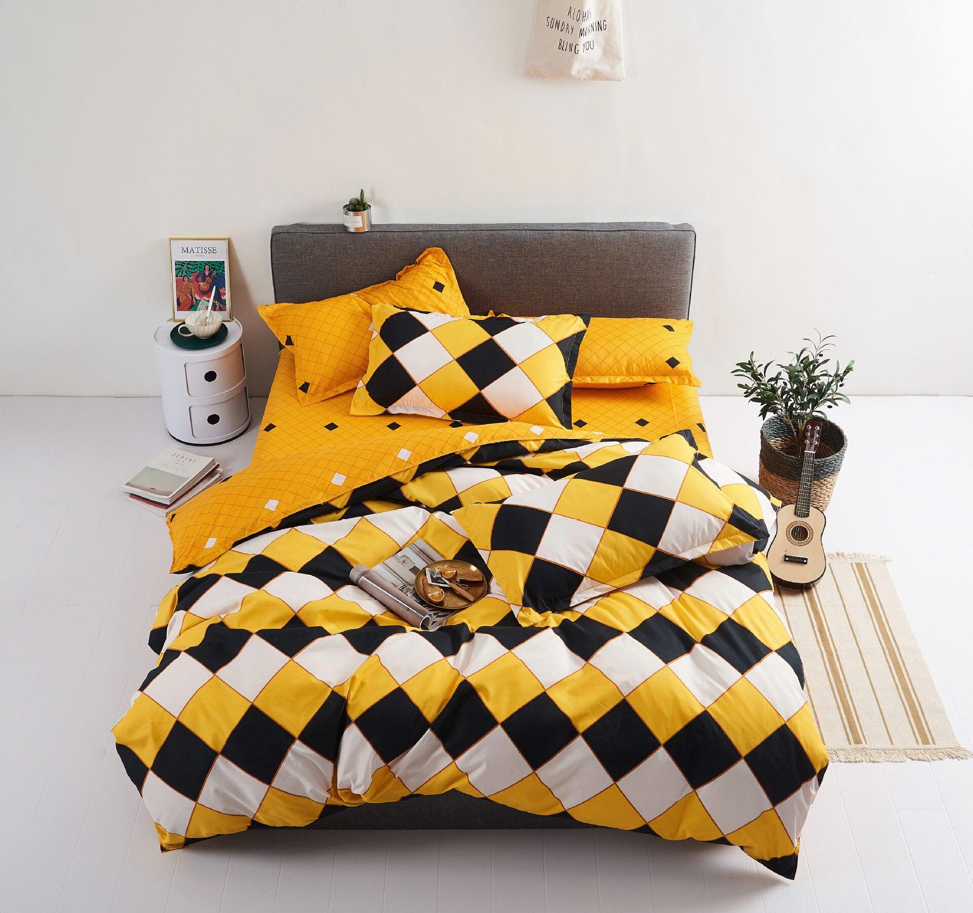 Europe, America,Japan Edinburgh Sheet Full Size Pillowcase&Duvet Cover Sets 3&4 pcs bedding set luxury