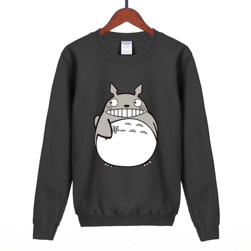 Hot sale Japanese Anime Gray My Neighbor Totoro cute women sweatshirt 2018 spring winter kawaii hoodies brand clothing S-2XL