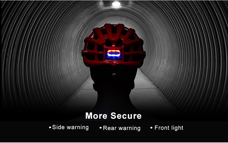 ROCKBROS Cycling Helmet with integrated front and side safety lights 15