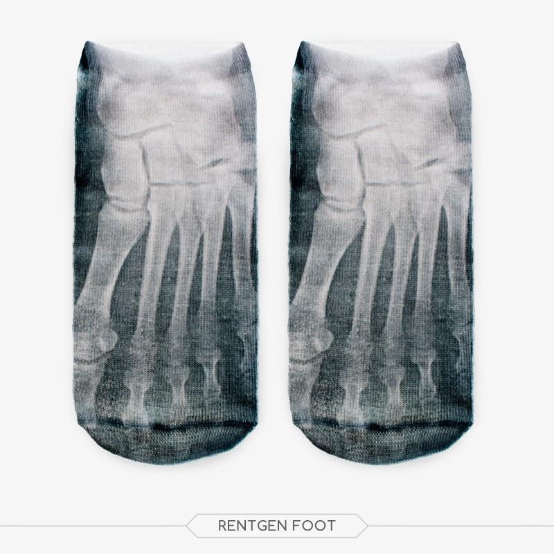 ᗛ3D lindo Pies esqueleto impreso calcetín Hombres Nuevo unisex ...