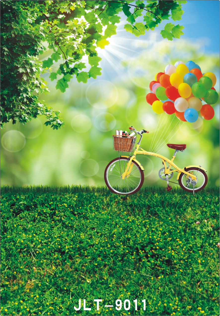 Art fabric spring photography baby backdrops photo studio photographic background for children hot sale green grass backdrop