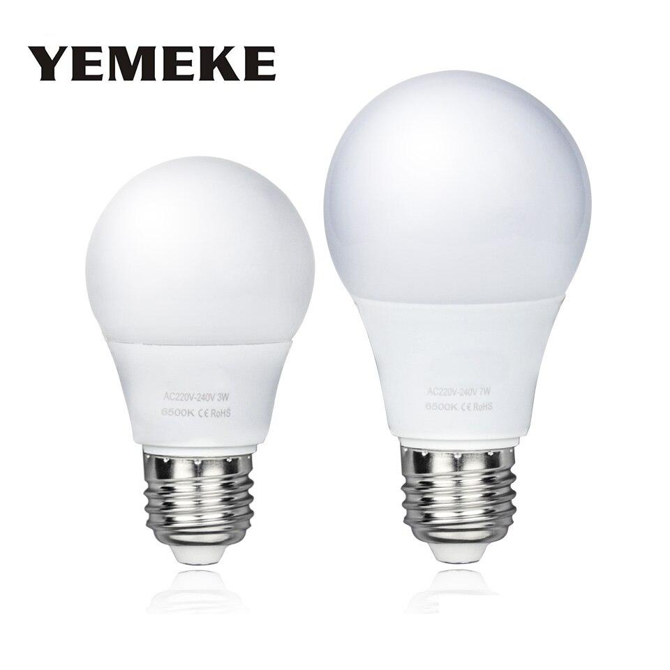 1 шт. 2018 Новый Светодиодный лампочки E27 SMD2835 3 Вт/5 Вт/7 Вт/9 Вт /12 Вт/15 Вт лампада светодиодный лампа холодного теплый белый Spotlight светодиодный эн…