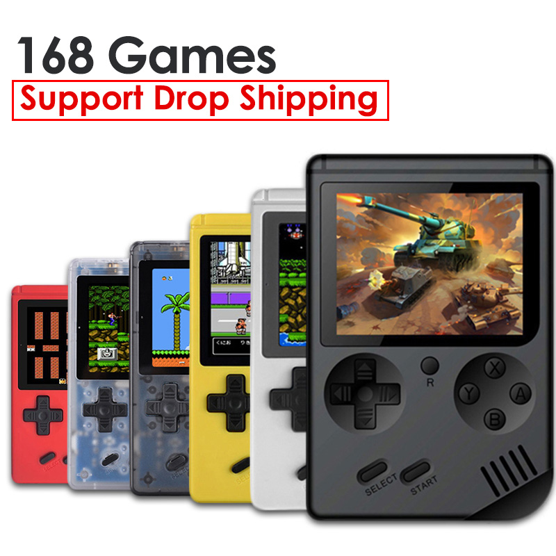 RS-6A Game Console 8 Bit Retro Mini Pocket Handheld Game Player Built-in 168 Classic Games Best Gift for Child Nostalgic Player