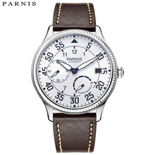 2018 Announced Parnis Brands Watch Man Power Reserve Mechanical Watches