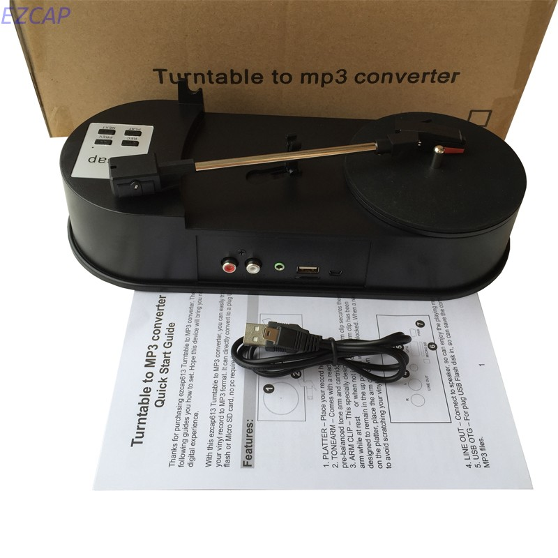 Vinyl turntable to MP3 converter, convert old vinyl turntable to mp3 save in USB flash disk directly no pc required easy to do