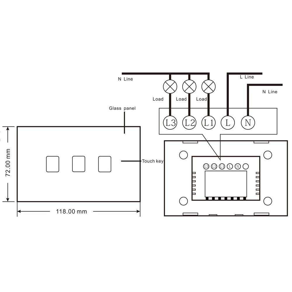 CNSKOU Tuya eWeLink Smart WIFI Switch Touch Wall Switch Smart Home,App Control Switch 110V 230V For Google Home
