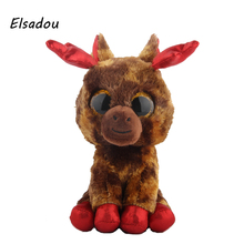 Elsadou Ty Beanie Boos Cute Animals Elk Plush font b Toy b font Doll Christmas Gift