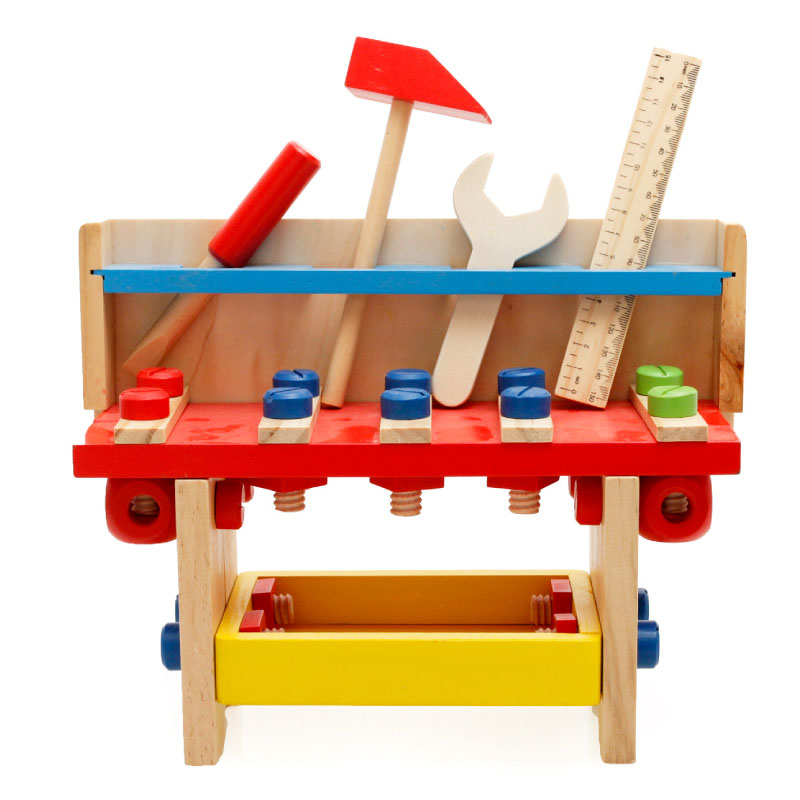 MamimamiHome Baby Wooden Toys Children Gifts Multifunction Assembly Tool Table Montessori Toys For Children Building Blocks baby educational wooden toys for children building blocks wood 3 4 5 6 years kids montessori twenty six english letters animal