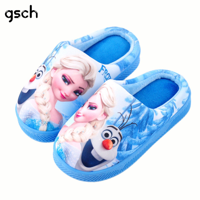 GSCH Elsa Shoes for Girls Family Matching Shoes Baby Winter Children Slippers Mother Daughter Shoes home Slippers Deguisement