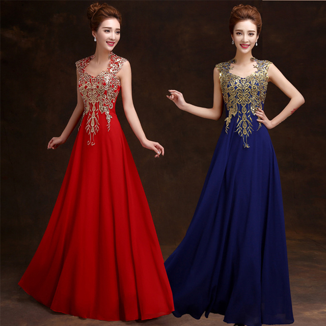 fa90f36fd782 PTH1548#2016 winter new ball gown long slim hostess evening dress bride toast  prom dress wholesale clothing rose and red