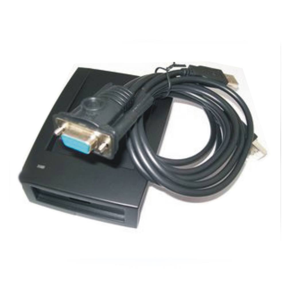 Free shipping 125KHZ RFID reader RS232 port/Baud rate 9600 RFID reader USB  to take power+5PCS Card