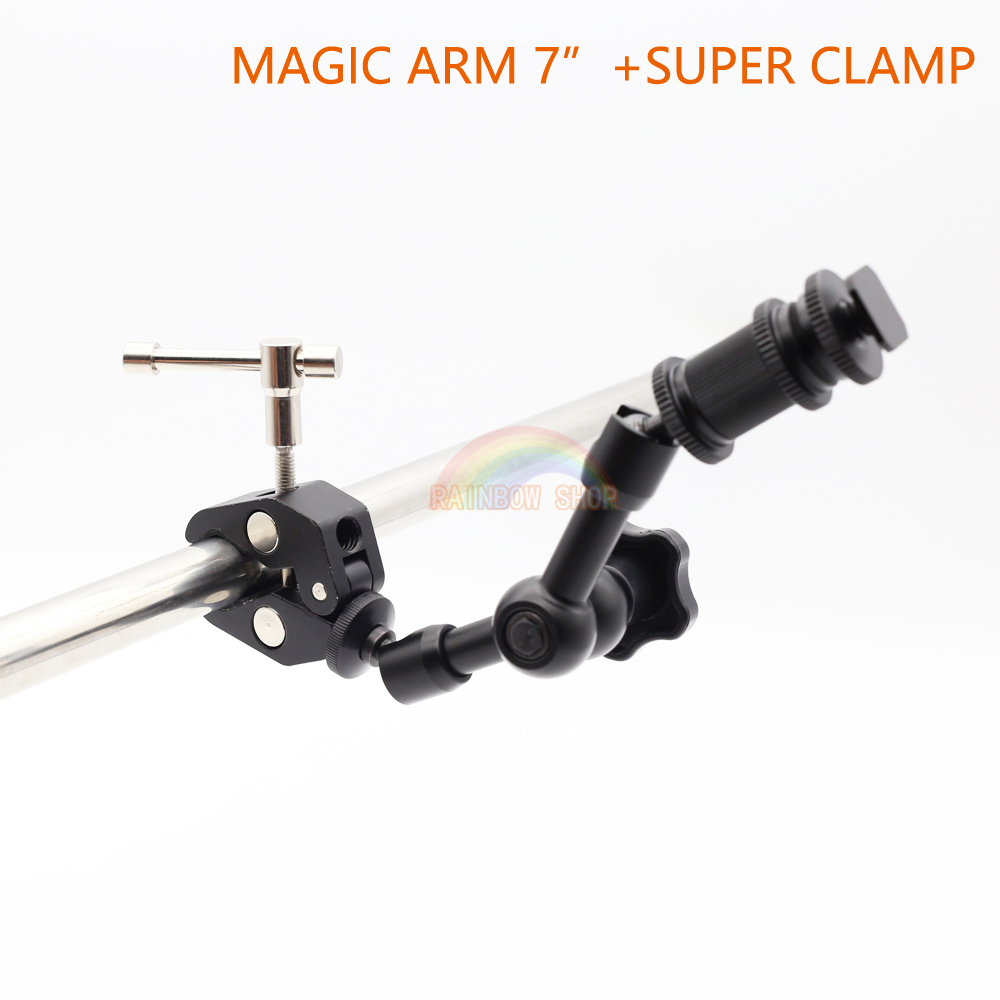 7 Inch Articulating Magic Arm + Super Clamp for Camera LCD Monitor LED Light Free Shippi ...