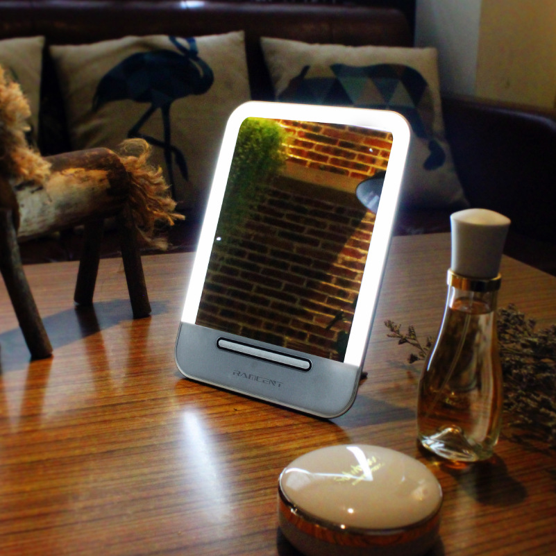 table light with makeup mirror vanity mirror with led lights portable design built in battery. Black Bedroom Furniture Sets. Home Design Ideas