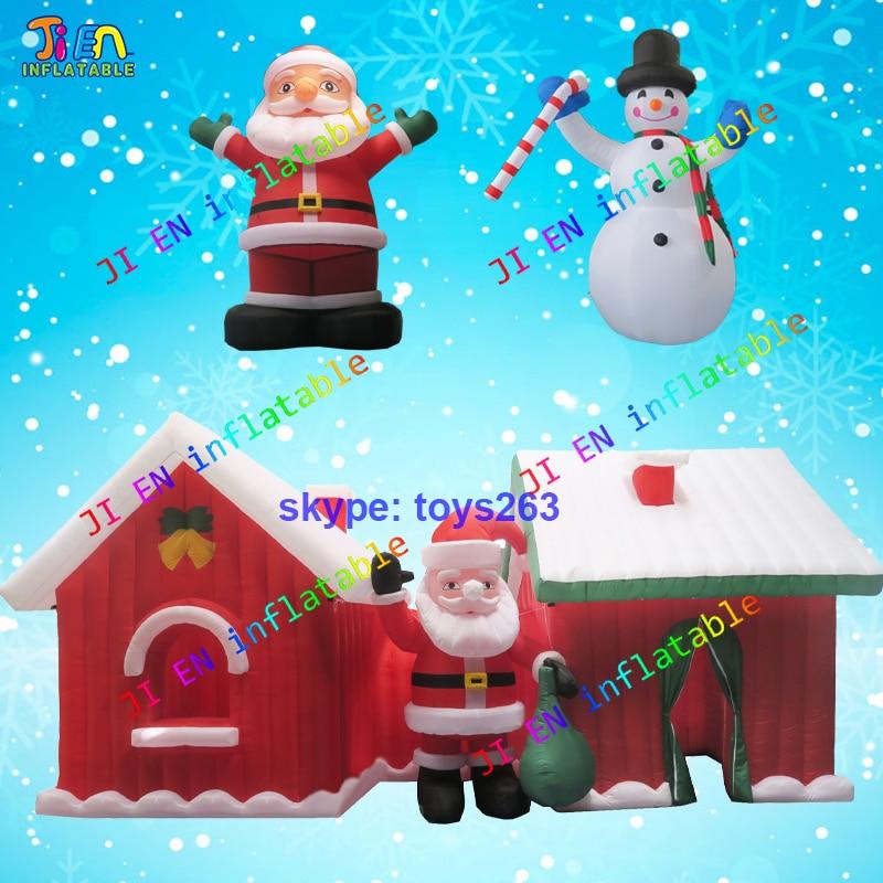 Christmas Inflatables.Us 1678 95 Free Air Shipping Christmas Inflatables 1pc Inflatable Santa Claus 1pc Snow Man 1pc Christmas House Xmas Air Blow Santa Snowman In
