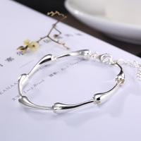 Japan and South Korea version of contracted smooth personality fashion silver jewelry bracelet joker woman in wholesale
