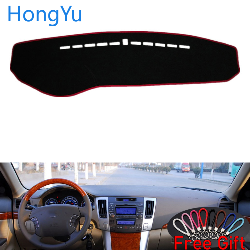 For HYUNDAI Sonata NF NFC 2009 Interior Accessories Auto Car Dashboard Cover Dash Mat Board Pad Carpet Dashmat Anti-UV Mats