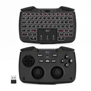 Image 2 - Rii RK707 Game Controller2.4GHz Wireless Keyboard with 62 keys Mouse Combo w/ Touchpad for PS3 TV Box Smart TV