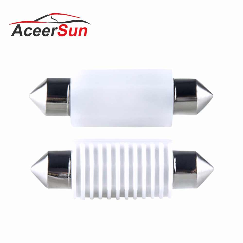 Aceersun 2pcs LED Car Reading lights C5W 31mm 36mm 39mm 41mm Canbus LED License plate light replacement light source For Ford