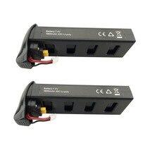 Pcs bateria de lítio 7.4 v 1800 mah para MJX 2 B2C B2W B2 2 w Bugs Bugs 2 D80 F18 RC quadcopter drone bateria de peças de reposição preto