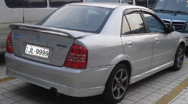 Good Quality Mazda Familia 323 Abs Material With Led Light Spoilers